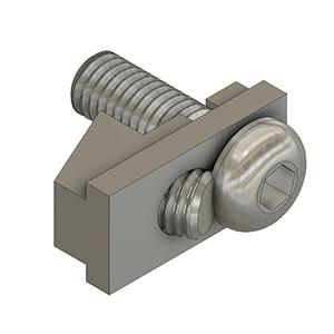 aluminum profile T-Slot hidden fastener
