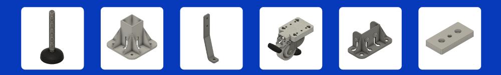 aluminum profile T-Slot Extrusion Foot