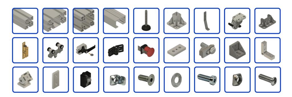 aluminum profile T-Slot Extrusion Parts & Components