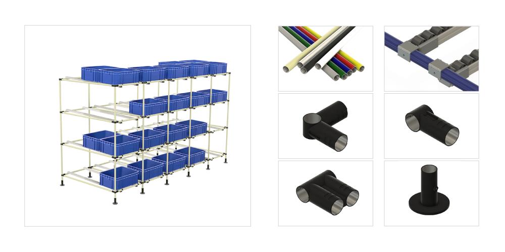 coated lean tube pipe rack