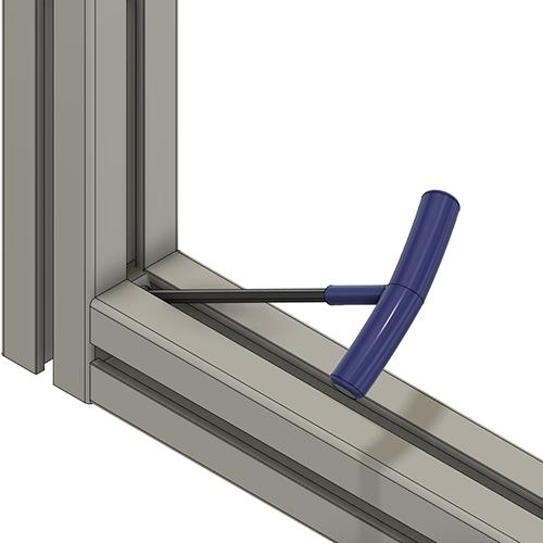aluminum profile T-Slot hidden profile fastener