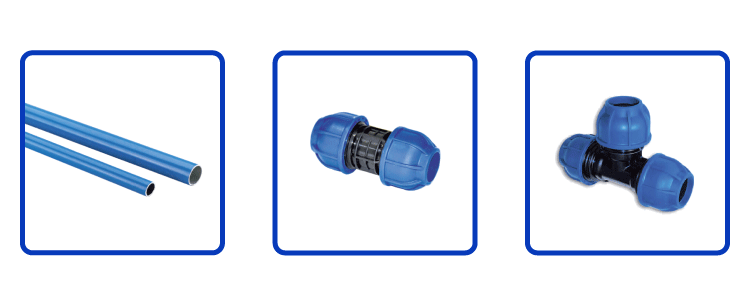 compressed air aluminum piping tubing system fitting connectors