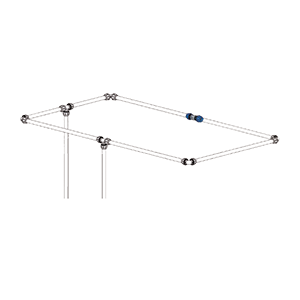 compressed air aluminum piping tubing system – roof ceiling mounted