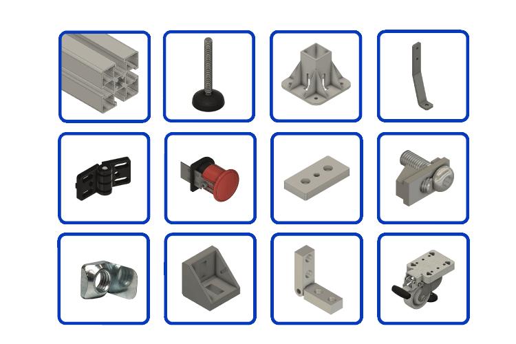 aluminum profile T-Slot Extrusion - Hardware & Parts